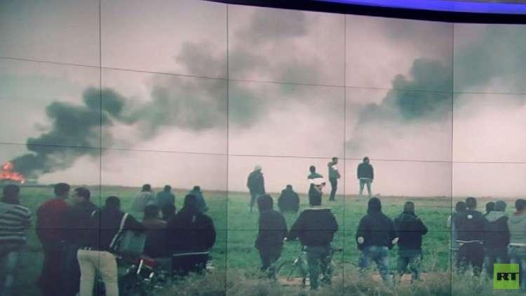 إصابات بفعاليات يوم الأرض بالضفة الغربية