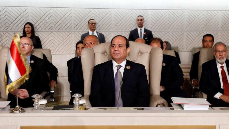 الرئيس المصري، عبد الفتاح السيسي، خلال مشاركته في القمة العربية بتونس العاصمة يوم 31 مارس 2019