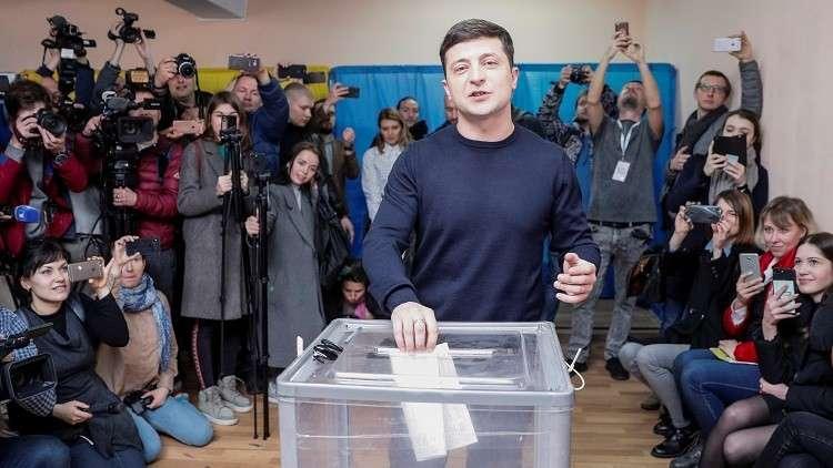 المرشح للرئاسة الأوكرانية فلاديمير زيلينسكي