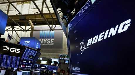 شعار شركة Boeing في بورصة نيويورك للأوراق المالية،11 مارس 2019