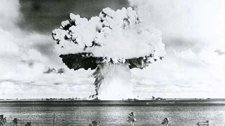 أرشيف - اختبار قنبلة ذرية، في موقع أتول بيكيني بمجموعة جزر مارشال في يوليو 1946