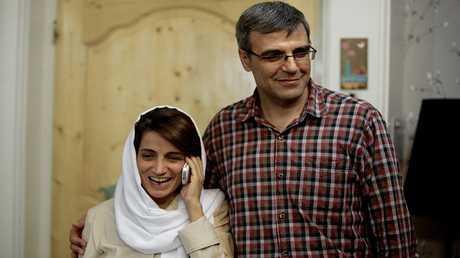 المحامية الإيرانية نسرين سوتوده وزوجها