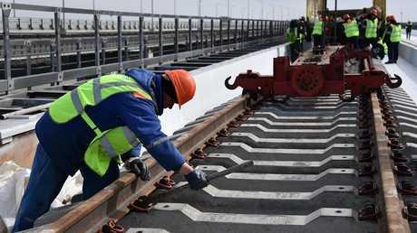 الإنشاءات الروسية تنجز 50% من سكة ربط القرم بروسيا