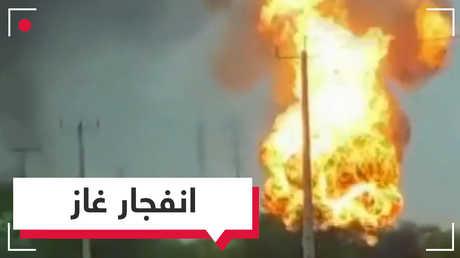 بالفيديو.. حريق هائل بعد انفجار أنابيب غاز في إيران