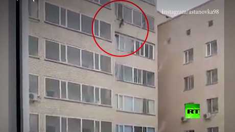 بالفيديو.. العناية الإلهية تنقذ طفلا سقط من الطابق العاشر!