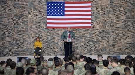 زيارة الرئيس الأمريكي دونالد ترامب للقوات الأمريكية في العراق 26 ديسمبر 2018