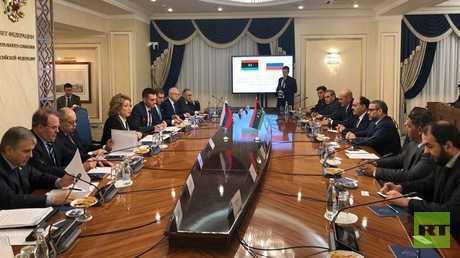 رئيسة مجلس الاتحاد الروسي تلتقي الوفد الليبي