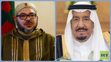 العاهلان السعودي الملك سلمان بن عبد العزيز والمغربي محمد السادس