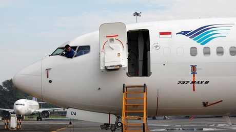 طائرة بوينغ 737 ماكس 8 تابعة لشركة غارودا إندونيسيا، جاكرتا، إندونيسيا ، 13 مارس 2019