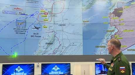 الرسوم التوضيحية لوزارة الدفاع الروسية حول حادث إسقاط طائرة
