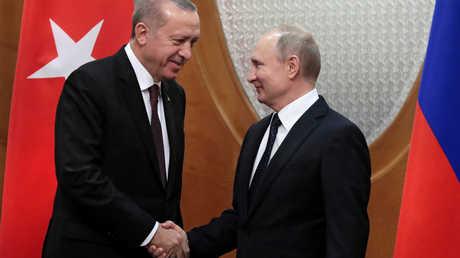 الرئيس الروسي فلاديمير بوتين ونظيره التركي رجب طيب أردوغان - أرشيف