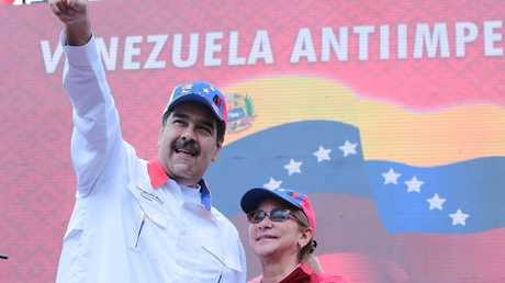 مادورو وزوجته سيليا فلوريس، كاراكاس، 23 مارس 2019