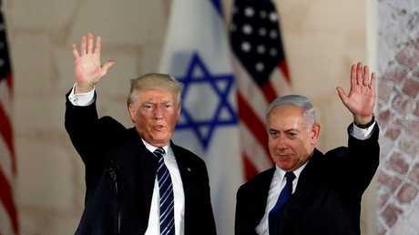 أرشيف - ترامب ونتنياهو، القدس 23 مايو 2017