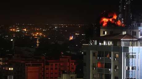 القوات الإسرائلية تقصف قطاع غزة