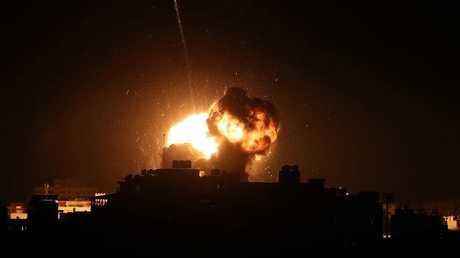 غارة جوية إسرائيلية على مدينة غزة في 25 مارس 2019