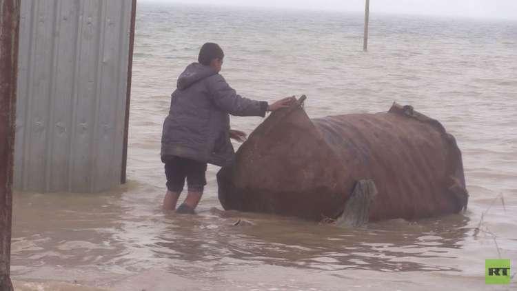 أمطار غزيرة وفيضانات في محافظة الحسكة