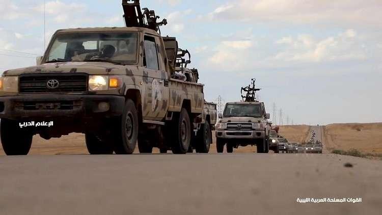 قوات المشير حفتر تعلن عن تعرضها لغارة جوية في العزيزية