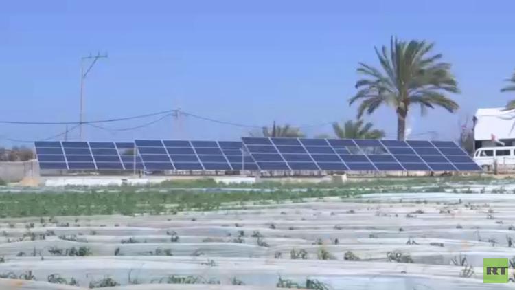 مزارعو غزة يلجأون للطاقة الشمسية