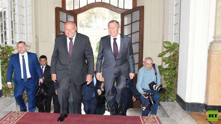 لافروف يتفقد خطوط مصر والأردن الحمراء