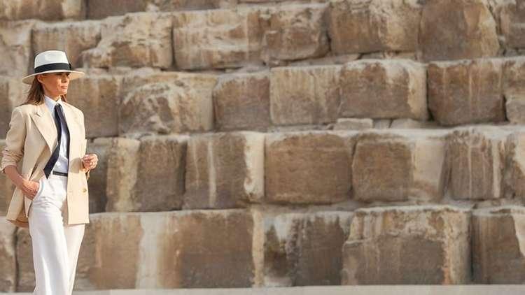 ترامب: ميلانيا أعجبها استقبال جيد أثناء زيارتها الى مصر