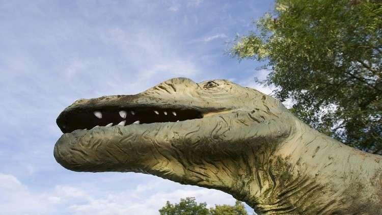 اكتشاف بصمات جلد ديناصور