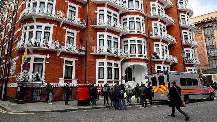 مبنى سفارة الإكوادور في لندن
