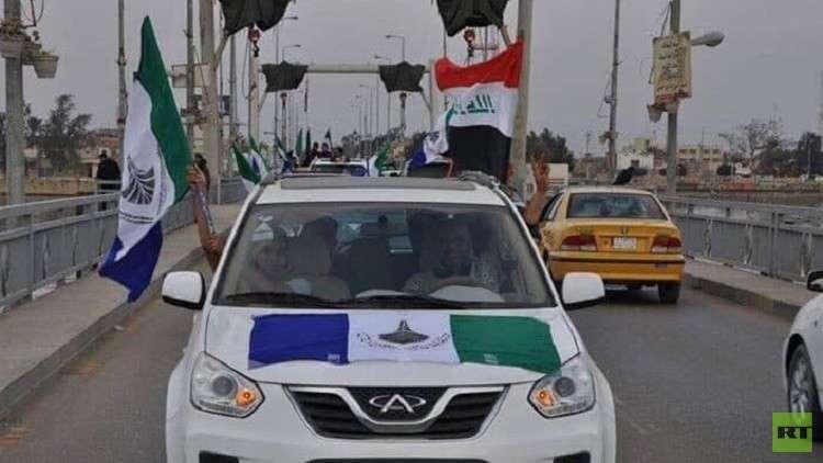 متظاهرون يدعمون مقترح تحويل البصرة في العراق إلى إقليم