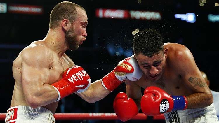 نتيجة بحث الصور عن Беспутин победил Бланко в бою за титул чемпиона USBA