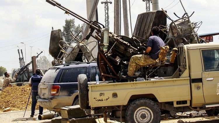بالصور.. إسقاط طائرة للجيش الوطني الليبي جنوبي طرابلس