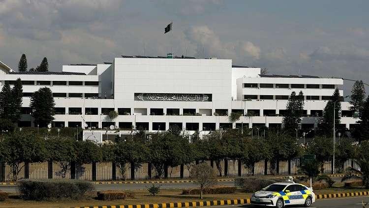 مبنى البرلمان الباكستاني في العاصمة إسلام آباد