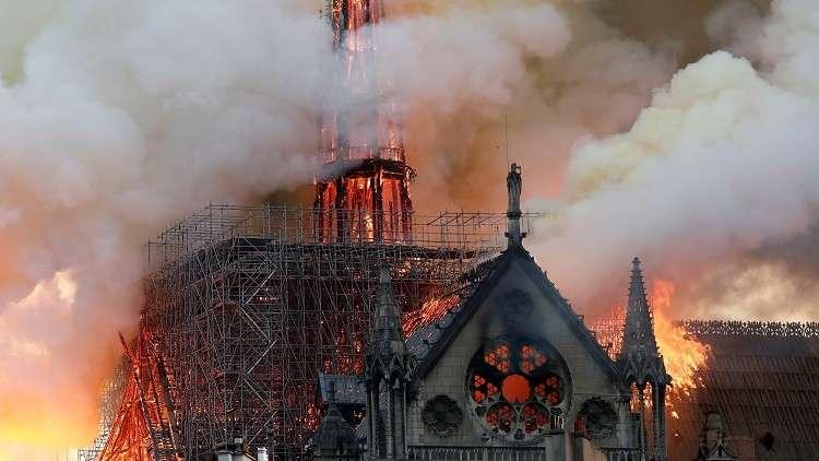 مصر تعبر عن حزنها لما لحق بكاتدرائية نوتردام في باريس