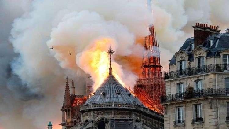 لماذا لم تُستخدم الطائرات لإطفاء حريق كاتدرائية نوتردام من الجو؟
