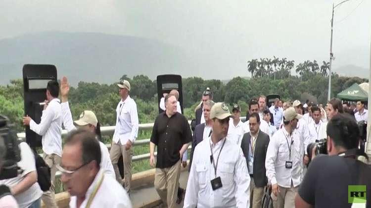 بومبيو يطالب مادورو بمغادرة فنزويلا