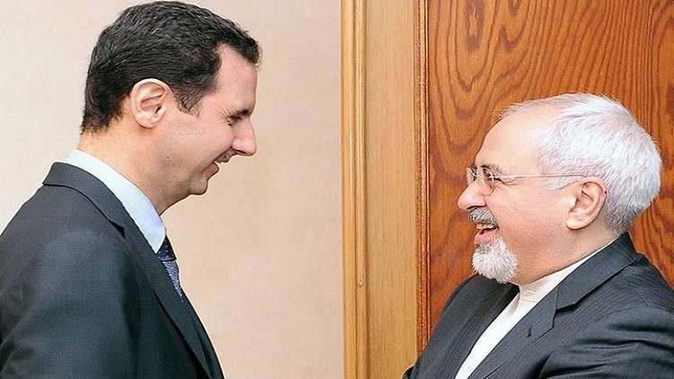 ظريف يبحث مع الأسد سبل مواجهة الهجمة الأمريكية على المنطقة والعلاقات الثنائية