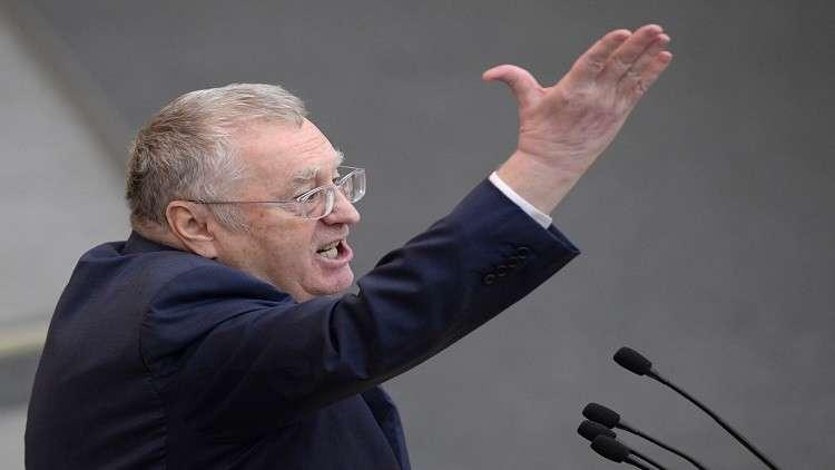 زعيم الحزب الديمقراطي الليبرالي الروسي فلاديمير جيرينوفسكي