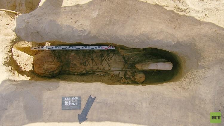 العلماء الروس يعثرون على مومياء فريدة في الفيوم (صورة)