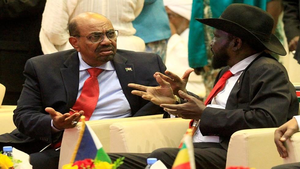 الرئيس السوداني المعزول عمر البشير ورئيس جنوب السودان سلفاكير ميارديت - أرشيف