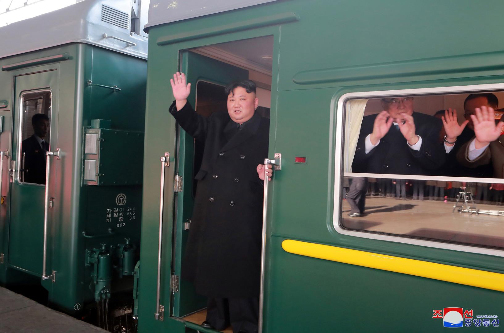كيم جونغ أون في قطاره المدرع - صورة أرشيفية