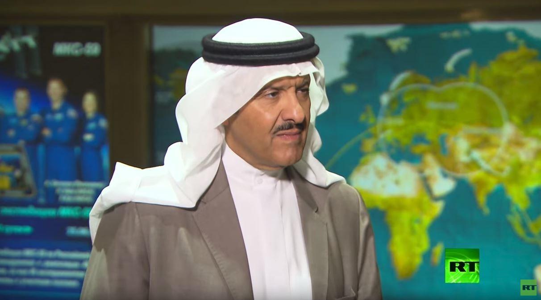 الأمير السعودي سلطان بن سلمان: أتابع RT وروسيا سوف تساعدنا في مجال الفضاء