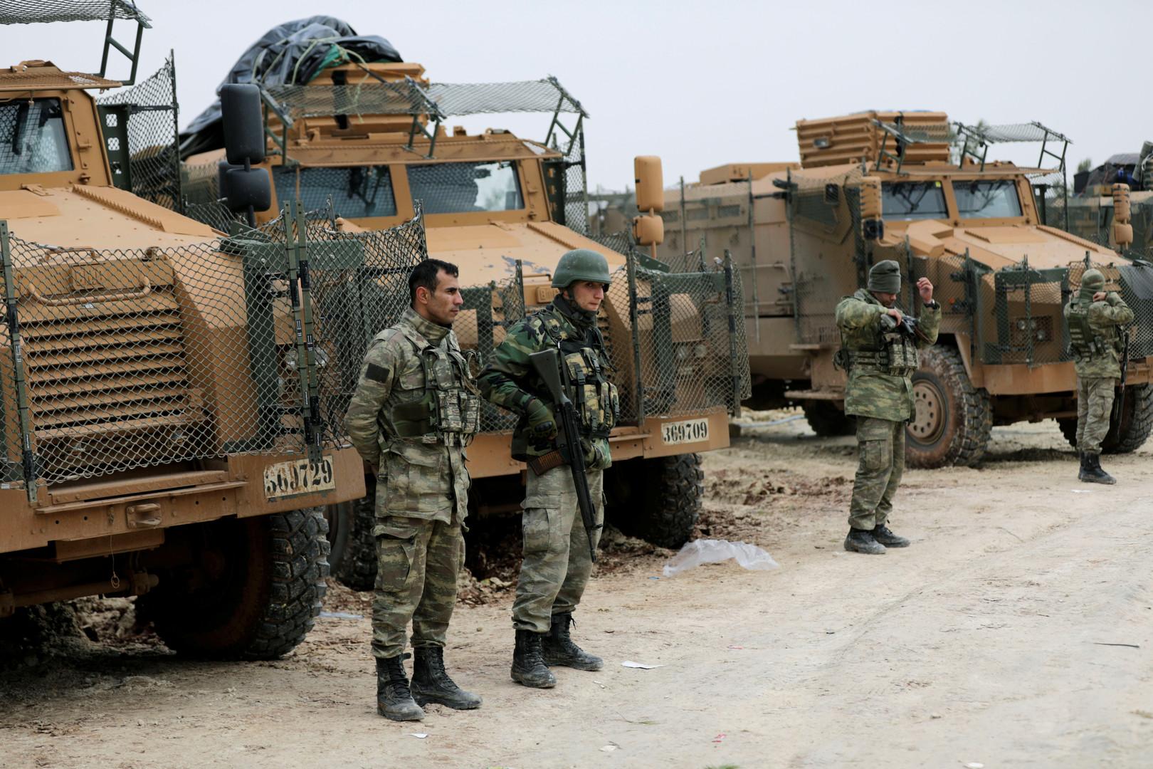 عناصر من الجيش التركي في منطقة عفرين شمال سوريا