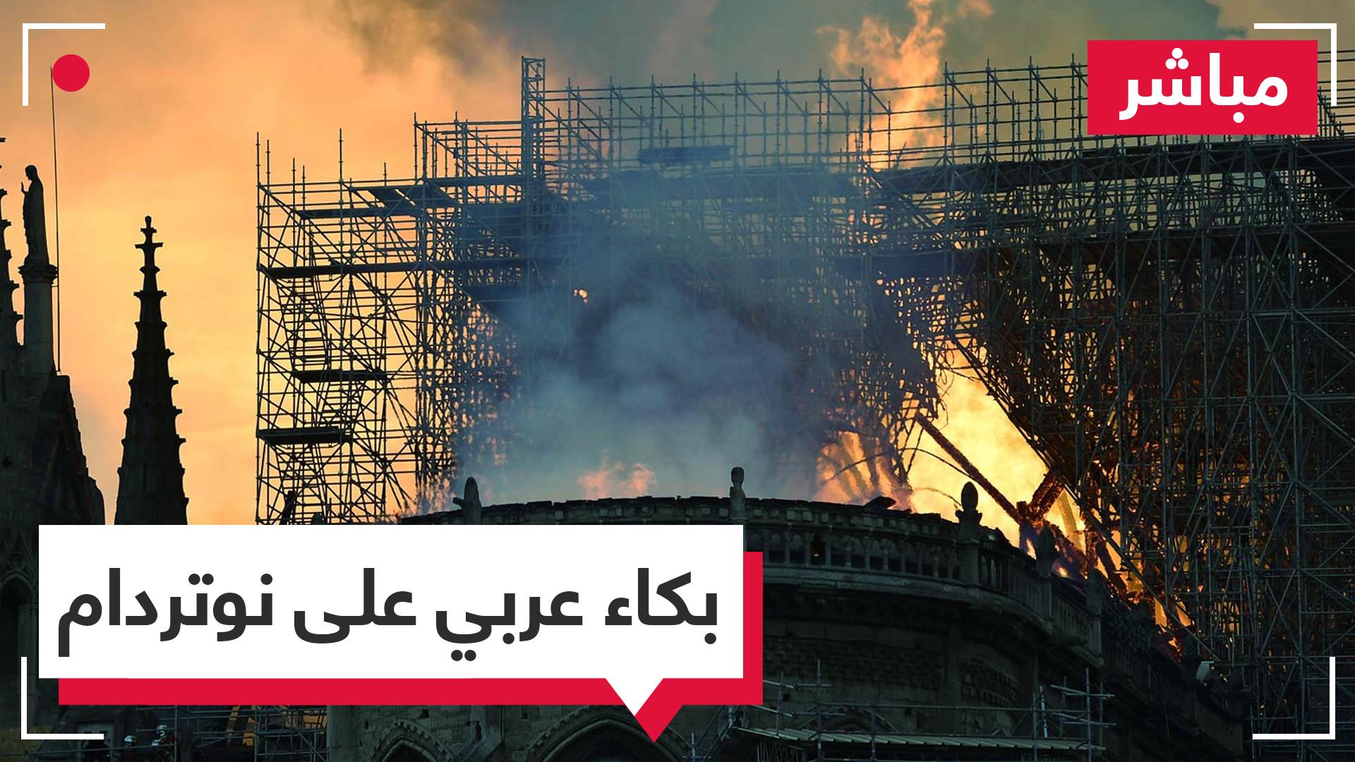 عرب حزينون على كاتدرائية نوتردام ولم يهتموا بدمار تدمر والمسجد الأموي وغيرهما الكثير