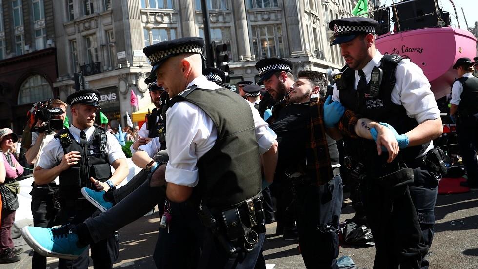 توقيف أكثر من 100 شخص خلال الاحتجاجات في لندن