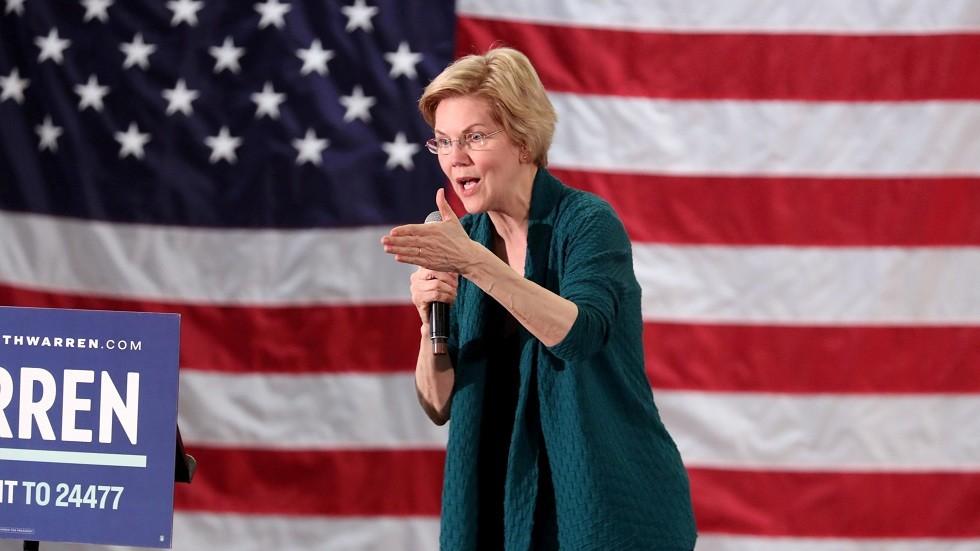 السيناتورة الأمريكية عن الحزب الديمقراطي إليزابيث وارين