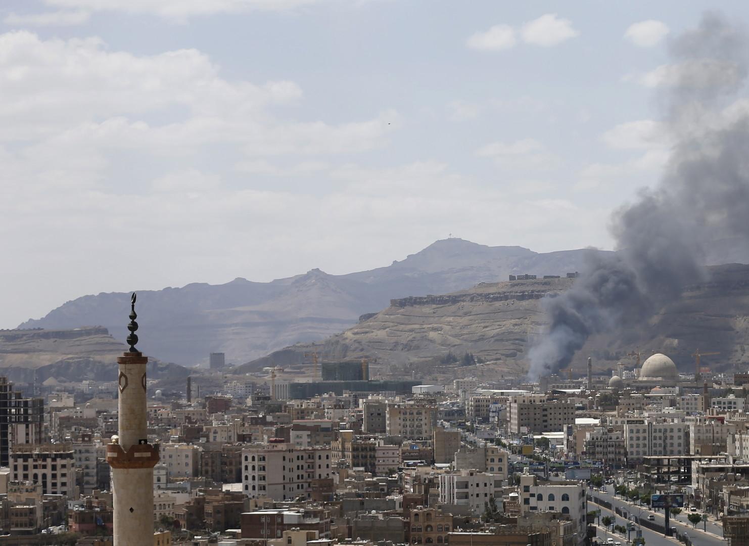غارة جوية في صنعاء - أرشيف