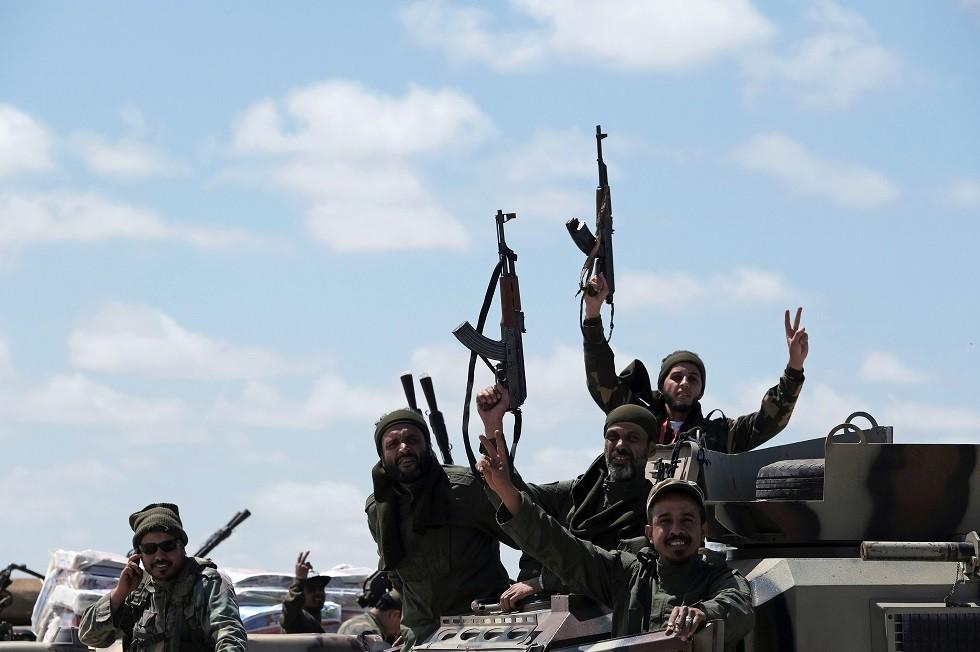 قوات تابعة للجيش الوطني الليبي، بقيادة خليفة حفتر، 7 أبريل 2019