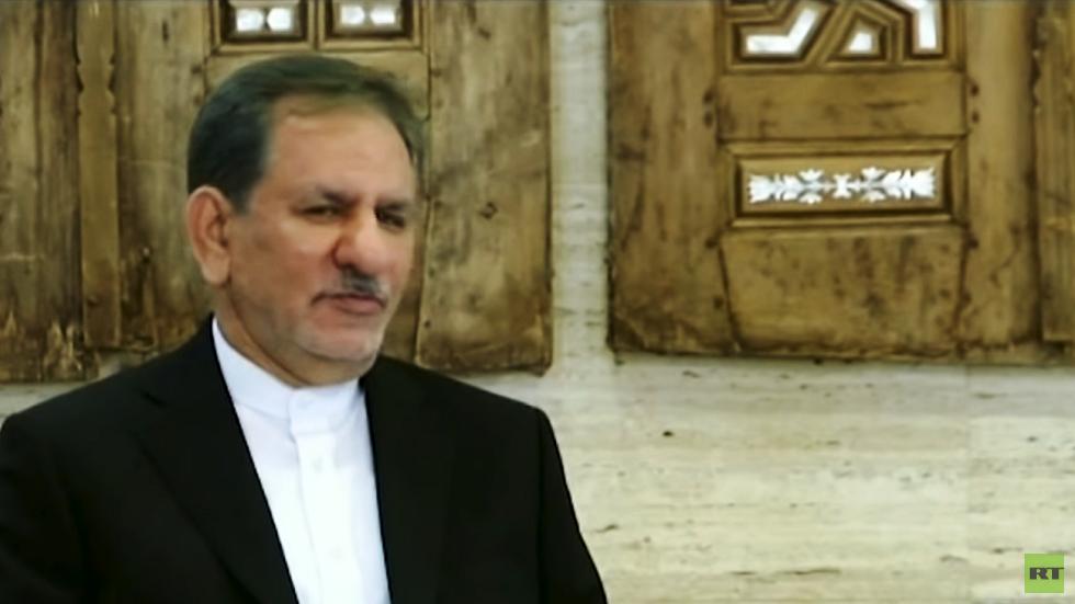 إسحاق جهانغيري النائب الأول للرئيس الإيراني حسن روحاني