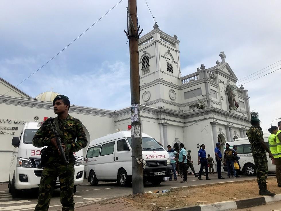كنيسة كوتشيكادي في كولومبو، سريلانكا، 21 أبريل 2019