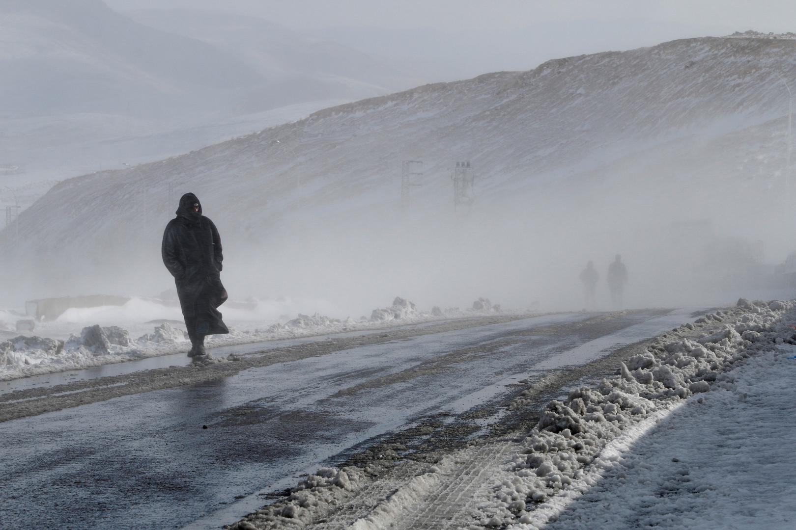 هطول الثلوج في سوريا - صورة أرشيفية
