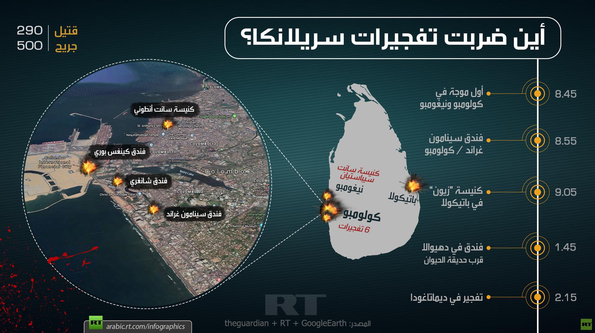 أين ضربت تفجيرات سريلانكا الدموية؟