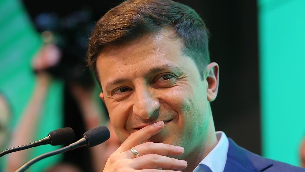 الرئيس الأوكراني الجديد فلاديمير زيلينسكي